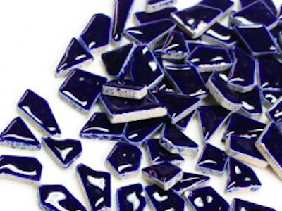 dark blue ceramic puzzle pieces