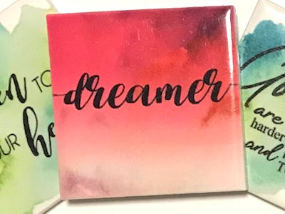 'Dreamer' Ceramic Quote Tile (HM)