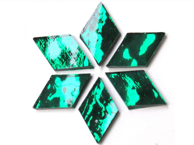 Emerald Green Mirror Diamonds