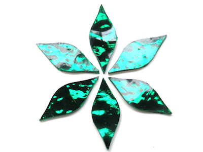 Emerald Green Regalia Mirror Petals