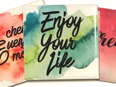 'Enjoy Your Life' Ceramic Quote Tile (HM)