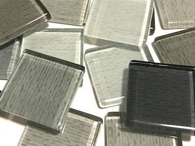 Grey Fine Textured Glass Tiles 2.5cm
