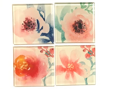Flower Series 5cm Glass Tiles - Mix 1