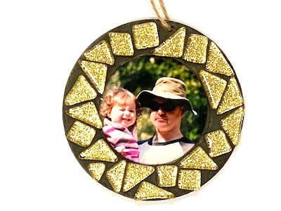 Gold Glitter Christmas Photo Frame Kit