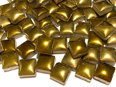 Gold Square Ceramic Tiles 1cm
