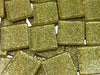 Gold Glitter Glass Mosaics Tiles - 2cm