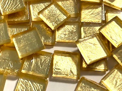 Gold Metallic Glass Tiles 1.5cm