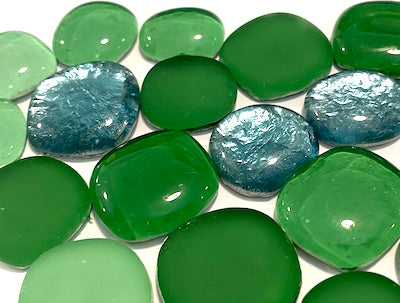 Green Glass Pebbles