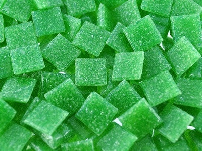 Green 1cm Glass Mosaic Tiles & Supplies