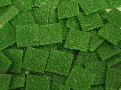 Green 2cm Venetian Mosaic Glass Tiles
