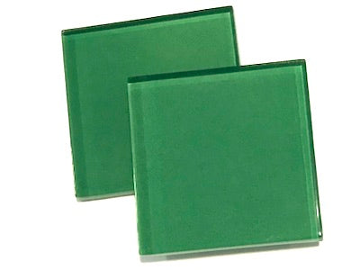 Green 5cm Glass Tiles
