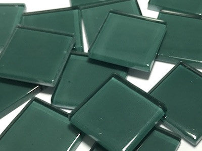 Green No. 7 Glass Mosaic Tiles 2.5cm
