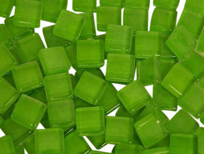Green Crystal Glass Mosaic Tiles 1cm