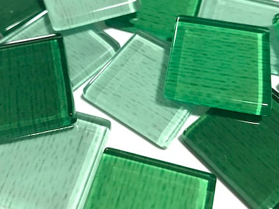 Green Fine Textured Glass Tiles 2.5cm