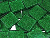 Green Glitter Glass Mosaic Tiles - 2cm