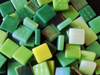 Green Mixed 12mm Glass Tiles