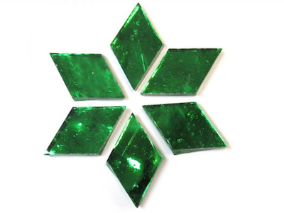 Green Regalia Mirror Diamonds