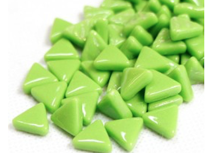 green glass triangles