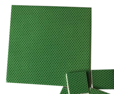 Green Polka Dots Ceramic Tiles 10x10cm