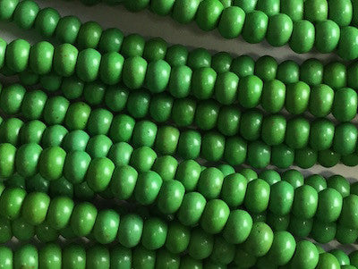 Green Rounded Beads