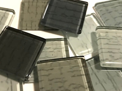 Grey Textured Glass Tiles 2.5cm