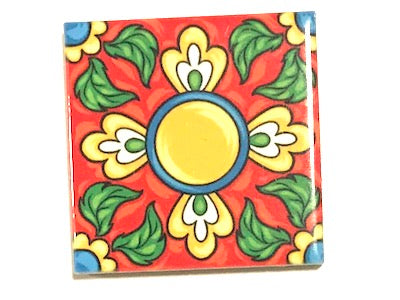 Hand Printed Ceramic Tiles 4.8 x 4.8 cm - Pattern 51 (HM)