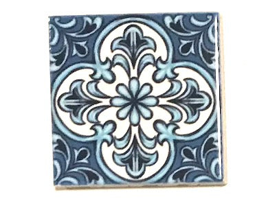 Hand Printed Ceramic Tiles 4.8 x 4.8 cm - Pattern 55 (HM)