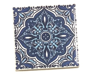 Hand Printed Ceramic Tiles 4.8 x 4.8 cm - Pattern 57 (HM)