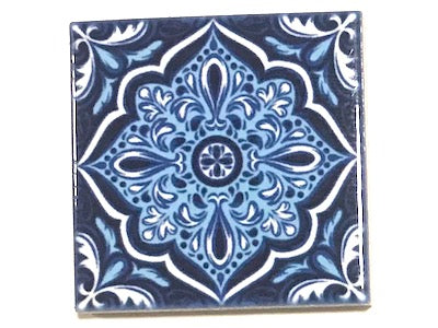 Hand Printed Ceramic Tiles 4.8 x 4.8 cm - Pattern 59 (HM)