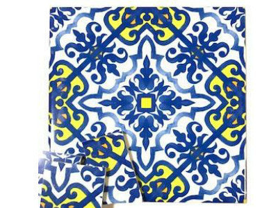 Hand Printed Ceramic Tiles 10x10cm - Pattern 33