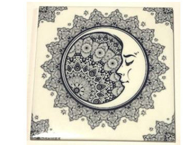 Hand Printed Ceramic Tiles 10x10cm - Pattern 48