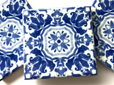 Hand Printed Ceramic Tiles 4.8 x 4.8 cm - Pattern 40