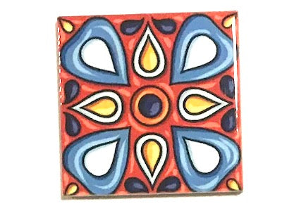 Hand Printed Ceramic Tiles 4.8 x 4.8 cm - Pattern 43 (HM)