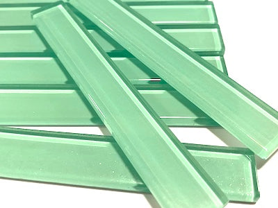 Coloured Glass Strips Aqua Green No. 1 - 10 x 1.5 cm (HM)