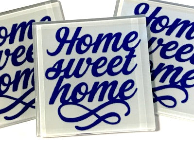 Home Sweet Home - Glass Quote Tile
