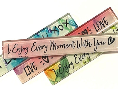 I Enjoy Every Moment With You (Pink) - Quote Strip (HM)