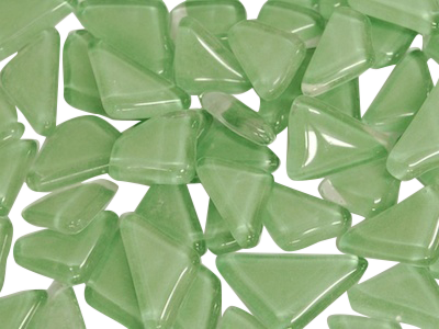 Light Green Crystal Glass Mosaic Tiles Irregular
