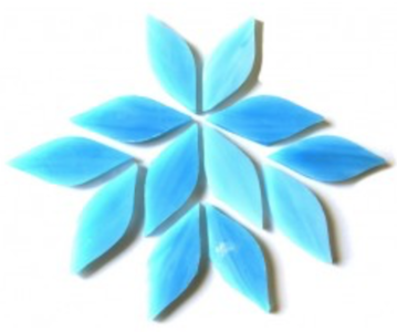 Small Ice Blue Stained Glass Petals