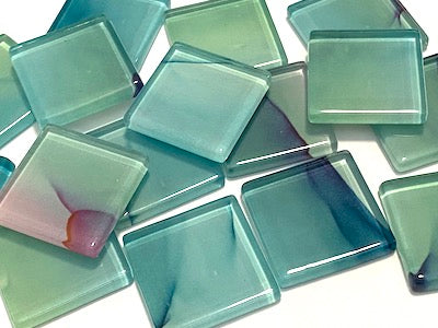Ink Pattern 2.5cm Glass Tiles - No. 4 (HM)