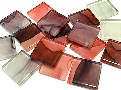 Ink Pattern 2.5cm Glass Tiles - No. 7 (HM)