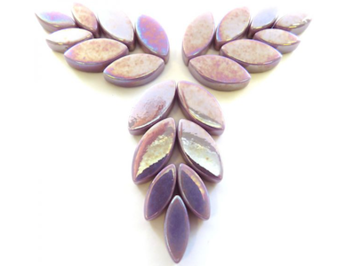 Iridised Lilac Glass Petals