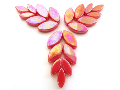 Iridised Watermelon Glass Petals