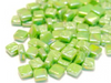 Iridised Green 8mm Glass Tiles