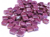 Iridised Deep Purple 8mm Glass Tiles