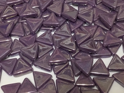 Iridised Purple Glass Triangles