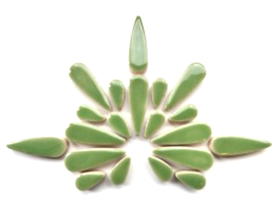 Jade Green Ceramic Teardrops