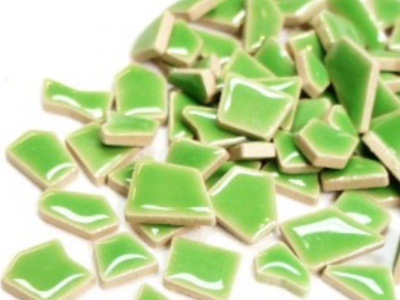 Jade Green Ceramic Puzzle Pieces