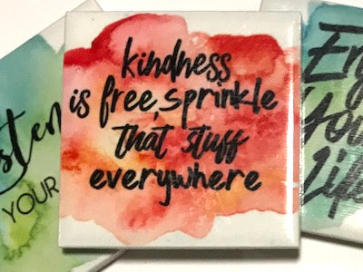 'Kindness Is Free' Ceramic Quote Tile (HM)