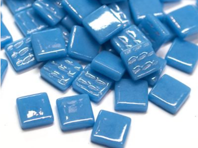Lake Blue Gloss Glass Tiles 1.2cm