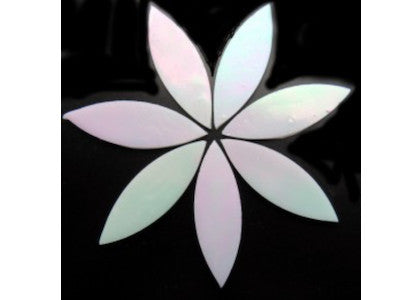 Large Iridised White Stained Glass Petals
